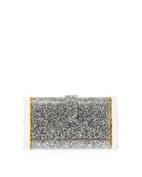 Edie Parker Metallic 'lara Backlit' Star Sequin Ice End Acrylic Clutch