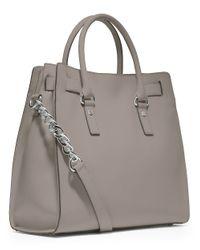 MICHAEL Michael Kors | Gray Hamilton Large Leather Tote Bag | Lyst