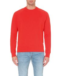 Paul Smith | Red Raglan-sleeve Cotton-jersey Sweatshirt for Men | Lyst