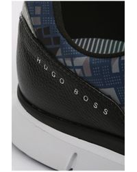 BOSS Green - Blue Patterned Sneakers: 'gym Print' for Men - Lyst