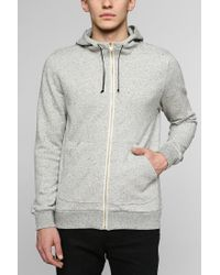 BDG Gray Gold Zipup Hoodie Sweatshirt for men