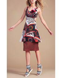 Clover Canyon - Multicolor Tribal Masks Cutout Dress - Lyst