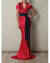 Sophie Theallet - Red Double-crepe satin gown - Lyst