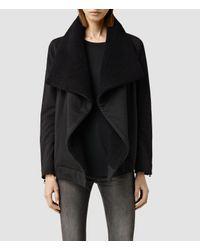 AllSaints | Black Bora Sweatshirt | Lyst