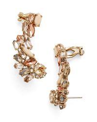 Marchesa | Metallic Crystal Cluster Ear Crawlers | Lyst