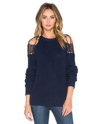 Viktoria & Woods Blue Global Knit Sweater
