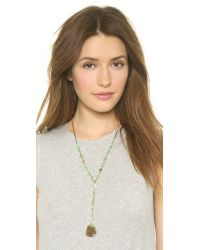 Vanessa Mooney - The Daisy Mae Necklace - Green/gold - Lyst