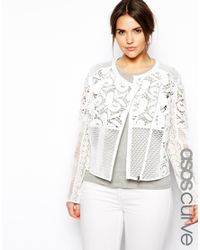 ASOS - White Exclusive Premium Lace Jacket - Lyst