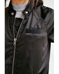 Members Only Black Satin Bomber Jacket
