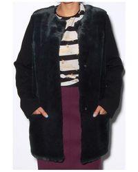 Giada Forte Black Fur Front Bosco Coat