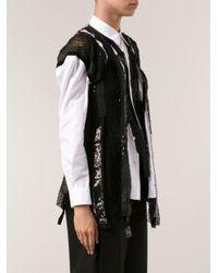 Junya Watanabe Black Sequin Shirt Blouse