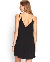 Forever 21 Black V-neck Shift Dress