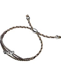 Links of London | Brown Feed Triple Dove Bracelet | Lyst
