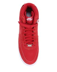 Nike | Red Air Force 1 Suede High Top Sneakers for Men | Lyst
