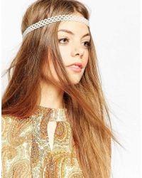 ASOS - Natural Faux Pearl Headband - Lyst