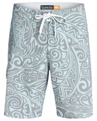 Quiksilver | Blue Waterman Nebula Printed Board Shorts for Men | Lyst