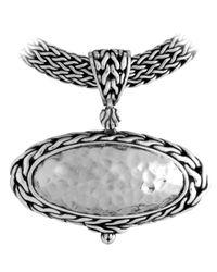 John Hardy - Metallic Palu Oval Enhancer - Lyst