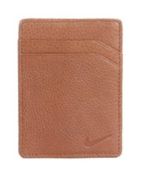 Nike | Brown Money Clip Card Case for Men | Lyst