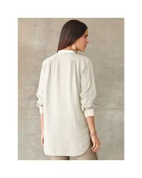 RRL - White Silk Pleated-bib Shirt - Lyst