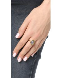 Astley Clarke Metallic Labradorite Large Stilla Ring
