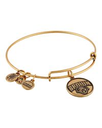 ALEX AND ANI | Metallic Brown University™ Mascot Charm Bangle | Lyst