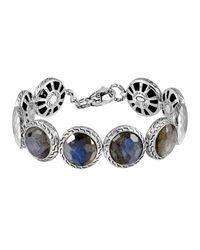 John Hardy | Metallic Batu Palu Silver Labradorite Disc Bracelet | Lyst