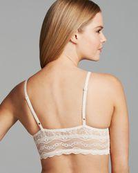 B.tempt'd White Lace Kiss Unlined Underwire Front Closure Longline Bra #911182