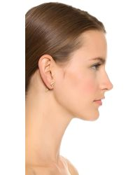 Eddie Borgo - Metallic Cone Stud Earring - Lyst