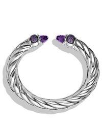 David Yurman | Metallic Waverly Bracelet With Amethyst & Purple Sapphires | Lyst