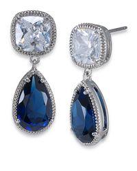 Carolee | Blue Uptown Girl Double Drop Earrings | Lyst