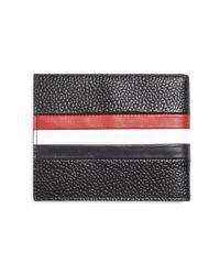 Brooks Brothers - Black Pebble Leather Trifold Wallet - Lyst