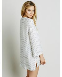 Free People | White Hang Time Sleep Shirt | Lyst