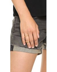 Fallon Metallic Infinity Bent Ring Gold
