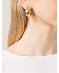 Vaubel | Metallic Flat Hoop Clip-on Earrings | Lyst
