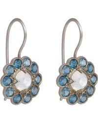 Cathy Waterman - Blue Floral Drop Earrings - Lyst
