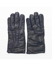 Club Monaco Blue Washed Leather Glove