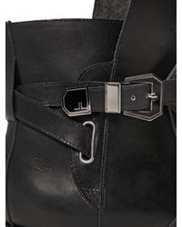 Louis Leeman Black 25mm Smooth Leather Boots for men