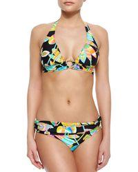 Trina Turk - Multicolor Tahitian Floral-print Halter Bikini Top - Lyst