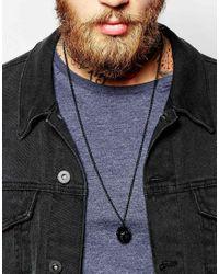 ASOS | 3d Geo Cage Pendant Necklace In Black for Men | Lyst