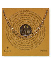 Dogeared Metallic 100 Good Wishes Tiny Bars Necklace 41