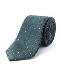 Racing Green Blue Madox Flower Design Tie for men