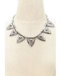 Forever 21 - Metallic Etched Statement Necklace - Lyst