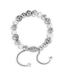 David Yurman - Metallic Dy Elements Bracelet With Pearls - Lyst