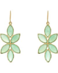 Irene Neuwirth Multicolor Floral Drop Earrings