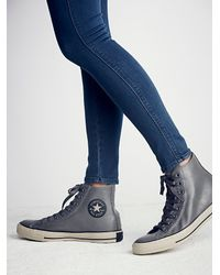 Free People - Gray Rubber High Top Chucks - Lyst