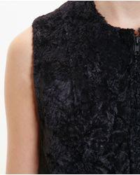 Ann Demeulemeester - Black Faux Fur Waistcoat - Lyst