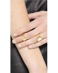 Elizabeth and James Metallic Bau 2 Ring Set - Gold