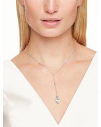 kate spade new york - Metallic Think Links Delicate Y Necklace - Lyst