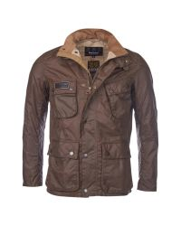 Barbour Brown Raceway Waxed Jacket for men