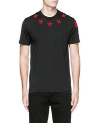 Givenchy Red Star Bouclé Appliqué T-shirt for men
